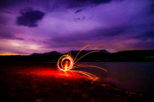 Green Mountain Reservoir Fire Spinning